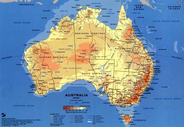 Kort Over Australien